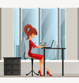 young secretary or business woman sitting vector image vector image