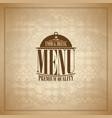 food and drink retro paper menu design vector image