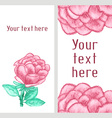 watercolor business banner with roses vector image