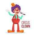circus clown performance for hilarious vector image