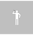 smoker computer symbol vector image