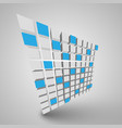 3d cubes vector image