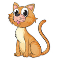 A smiling cat vector image vector image