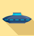 alien ship icon flat style vector image vector image