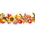 autumn seamless pattern with seasonal leaves and vector image vector image