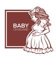 baby on board vector image vector image