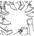 background for the shoe store vector image vector image