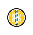 Barber Pole Circle Retro vector image vector image