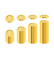 bitcoin cryptocurrency growth and income vector image