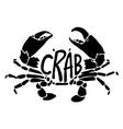 black crab vector image vector image
