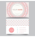 Business card template blue white and pink beauty vector image vector image