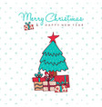 christmas and new year holiday pine tree cartoon vector image