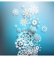 Christmas postcard with paper snowflakes EPS 10 vector image