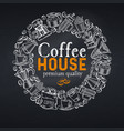 coffee house page vector image vector image