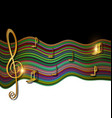 color patterned image of music vector image