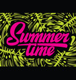 color template for summer time party with vector image vector image