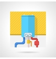 Colorful icon for water boiler vector image vector image