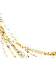 confetti cover from gold stars swirl path like vector image vector image