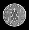 crypto currency eos silver symbol vector image vector image