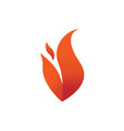 double spark fire flames element emblem symbol vector image vector image