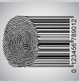 Fingerprint becoming barcode
