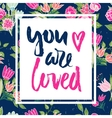 floral card with phrase vector image vector image