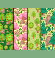 garden trees flowers grass game park vector image