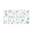 gmo food horizontal in outline vector image vector image