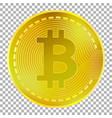 golden bitcoin on transparent background vector image vector image