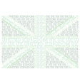 Green United Kingdom Text Flag vector image vector image