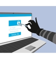 Hacking account of social networking vector image vector image