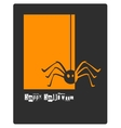 Halloween spider concept card or banner vector image