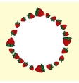 hand drawn strawberries label vector image