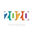 happy new year 2020 background brochure or vector image