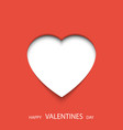 happy valentines day poster heart 3d with place vector image vector image