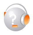icon headphone vector image vector image
