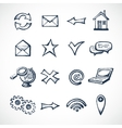 Internet sketch icons vector image vector image