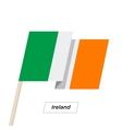 ireland ribbon waving flag isolated on white vector image