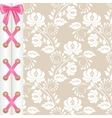 lace corset vector image vector image