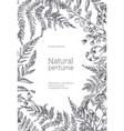 monochrome flyer template decorated with forest vector image vector image