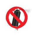 no graffiti spray can sign icon aerosol paint vector image vector image