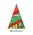 patchwork design of christmas tree vector image vector image