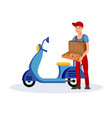 pizza delivery service flat vector image
