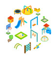 playground isometric 3d icons vector image vector image