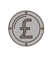 pound sterling coin isolated icon vector image