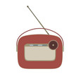 radio vintage retro old music icon speaker sound vector image vector image