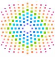 Rainbow element background in a lot of squares vector image