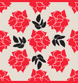 red roses background seamless wallpaper pattern vector image vector image