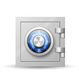 safe with combination lock - vault strongbox lock vector image vector image