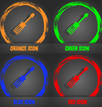 screwdriver icon Fashionable modern style In the vector image